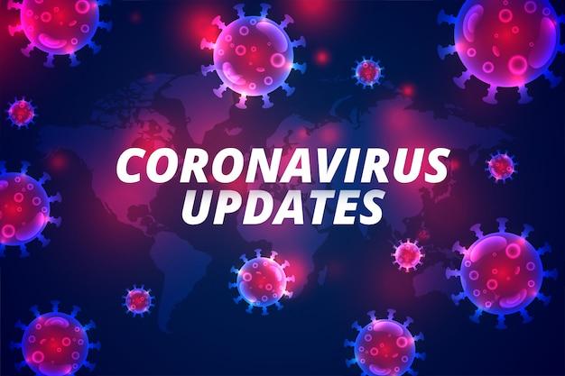 Coronavirus werkt de laatste covid-19 pandemische infectie bij Gratis Vector