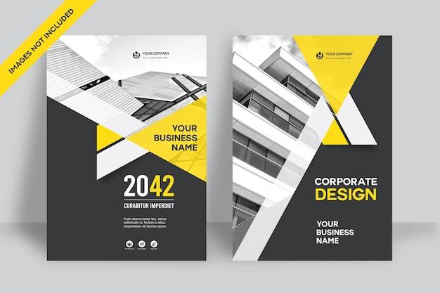 Corporate book cover ontwerpsjabloon Premium Vector