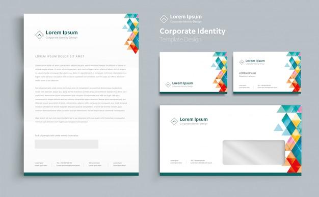 Corporate business identity-sjabloonontwerp Premium Vector