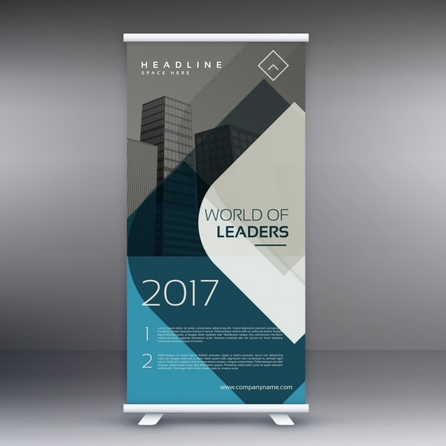 corporate business roll up banner presentatiesjabloon Gratis Vector