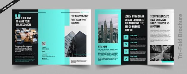 Corporate drievoudige brochure Premium Vector