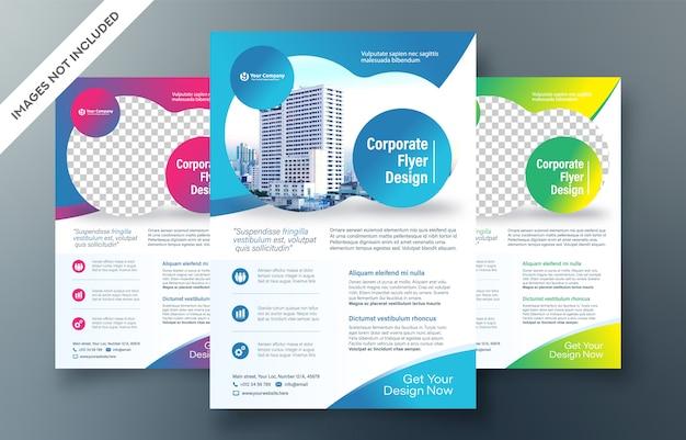 Corporate flyer ontwerpsjabloon Premium Vector