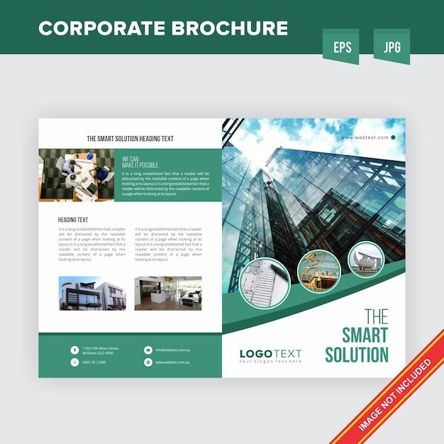 Corporate onroerend goed bedrijf handout sjabloon Premium Vector