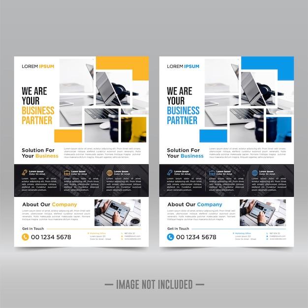 Corporate poster, flyer-sjabloon Premium Vector