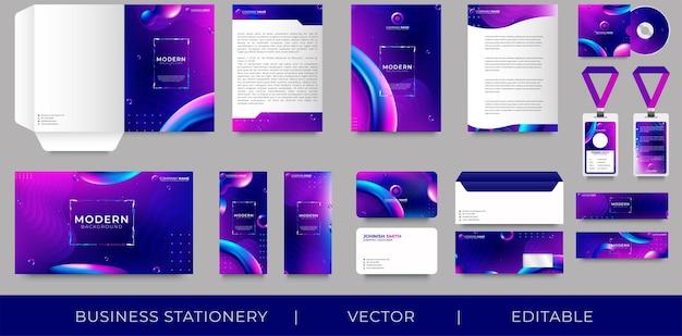 Corporate premium huisstijl branding ontwerp Premium Vector