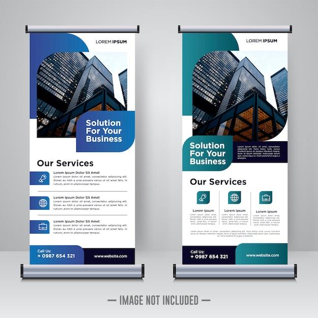 Corporate rollup of x banner ontwerpsjabloon Premium Vector