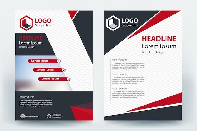 Corporatief bedrijf bedrijf flyer banner conceptontwerp Premium Vector