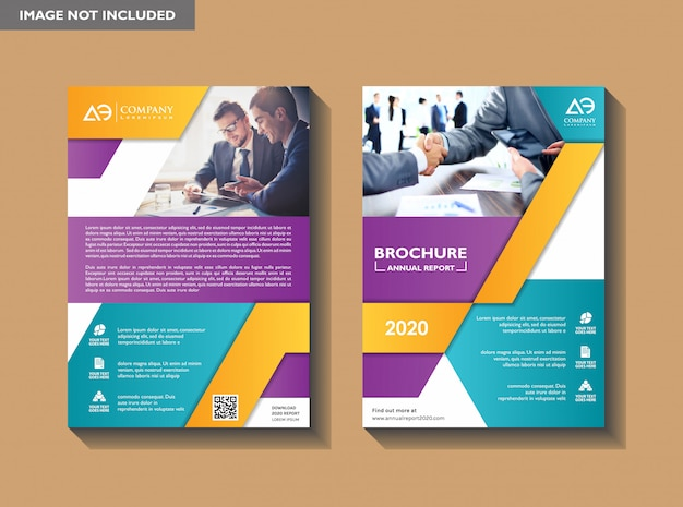 Corporatieve flyer ontwerpsjabloon Premium Vector