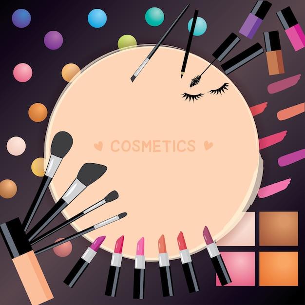 Cosmetica achtergrond Premium Vector