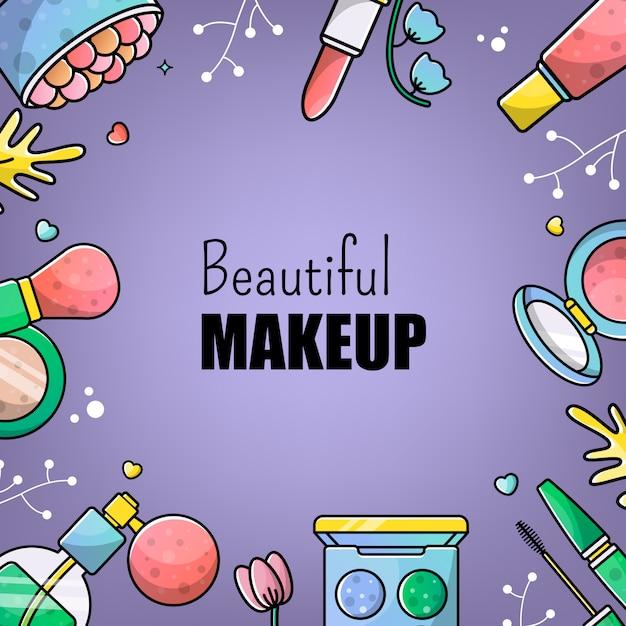 Cosmetica make-up Premium Vector