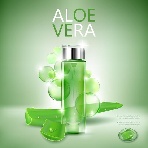 Cosmetische fles transparant Premium Vector