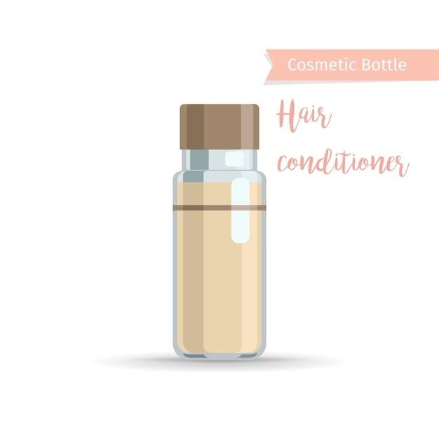 Cosmetische fles voor haarverzorgingsproducten Premium Vector