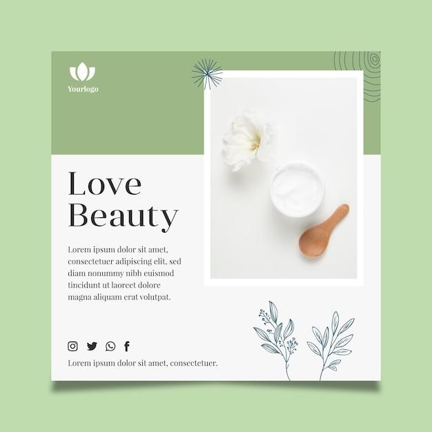 Cosmetische flyer-sjabloon Gratis Vector