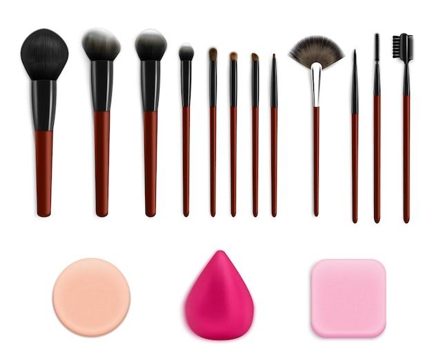 Cosmetische make-up gereedschap set Gratis Vector