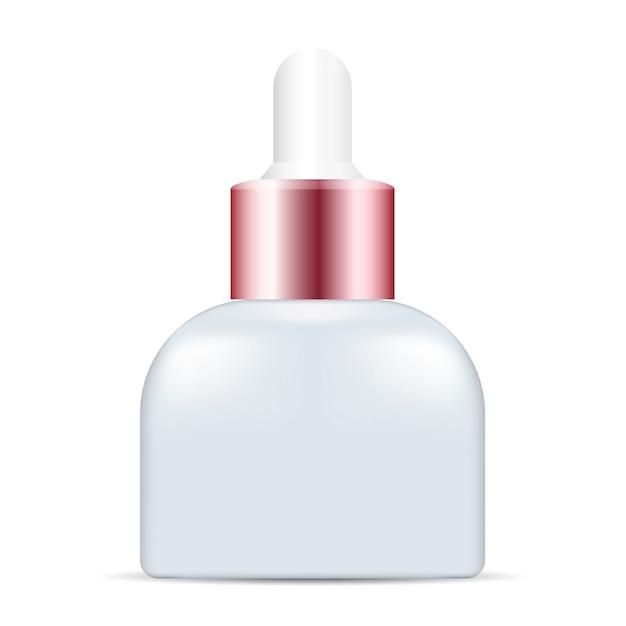 Cosmetische serum-essentiedruppelfles Premium Vector