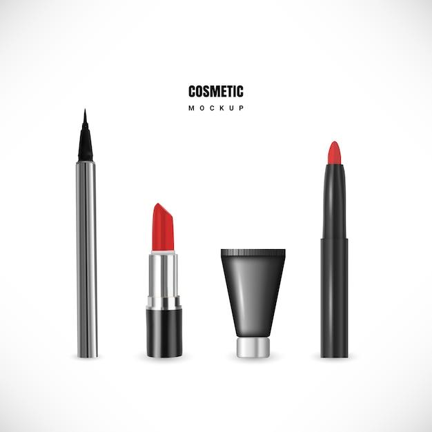 Cosmetische set Premium Vector