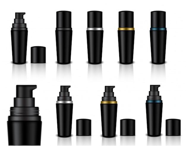 Cosmetische zeepgel flessen Premium Vector