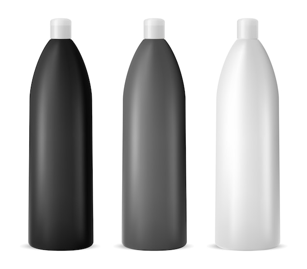 Cosnetic container design. shampoo fles. vector Premium Vector
