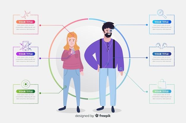Costumer profile infographic Gratis Vector