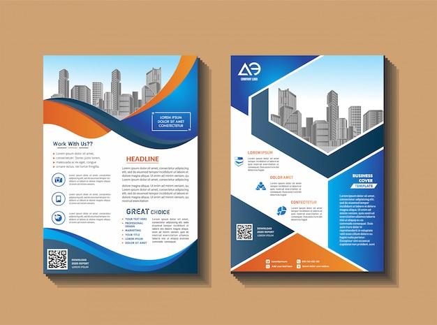 Cover brochure en lay-out voor presentatie en marketing Premium Vector