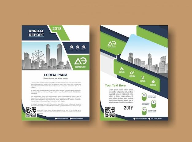 Cover lay-out brochure folder voor evenement en rapport Premium Vector