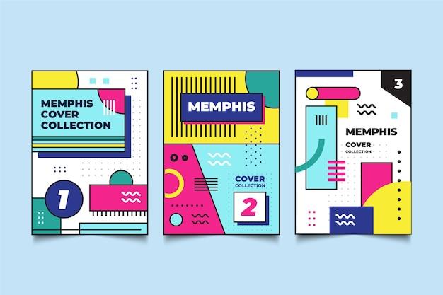 Cover pack memphis ontwerp Gratis Vector