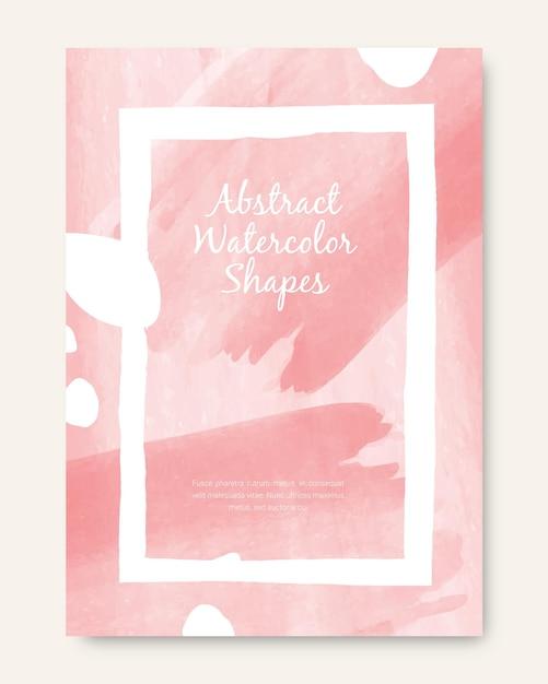 Cover set met abstracte vormen Gratis Vector