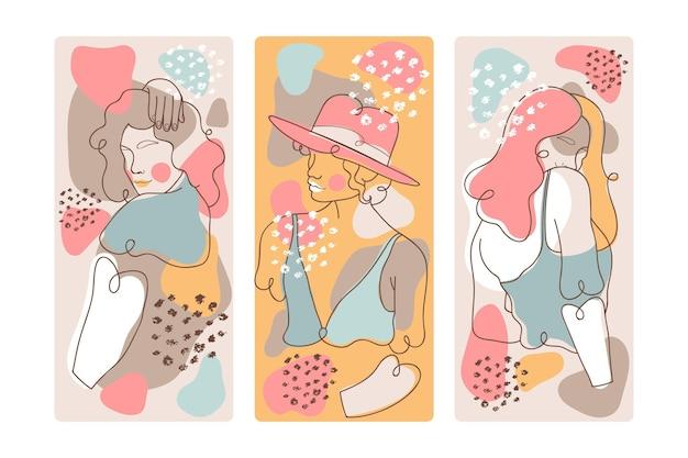Covers met abstracte vormen Gratis Vector