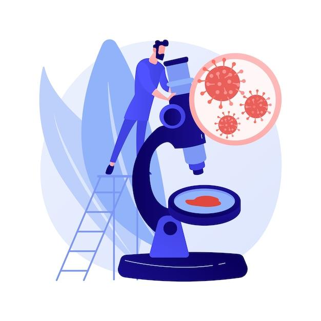 Covid-19 abstract concept vectorillustratie. coronavirus wereldwijd, pandemie, covid-19 slachtoffers, uitbraak van infectie, statistieken, dodental, noodtoestand, quarantainemaatregel abstracte metafoor. Gratis Vector