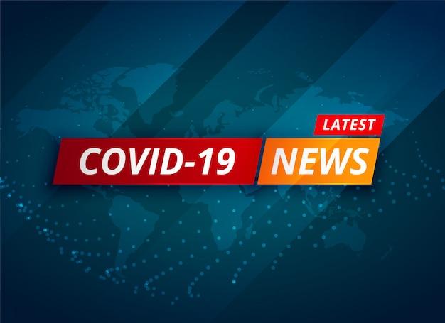 Covid-19 coronavirus laatste nieuws en updates achtergrond Gratis Vector