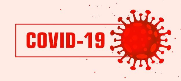 Covid-19 coronavirus pandemie rood virus bannerontwerp Gratis Vector