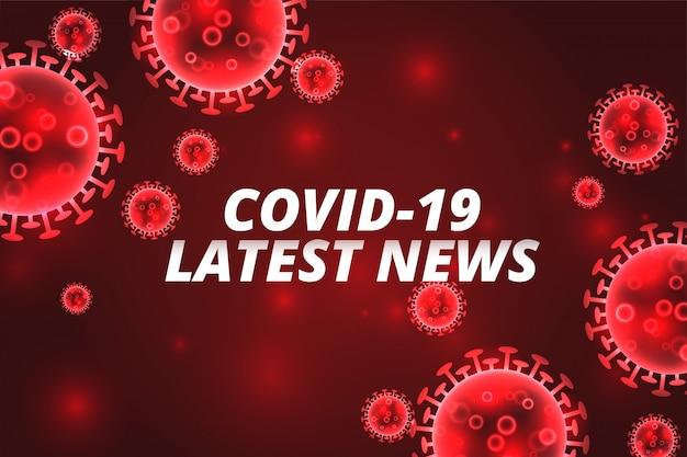Covid-19 laatste nieuws coronavirus rode achtergrond concept Gratis Vector