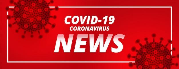 Covid19 coronavirus laatste nieuws en updates rode vlag Gratis Vector