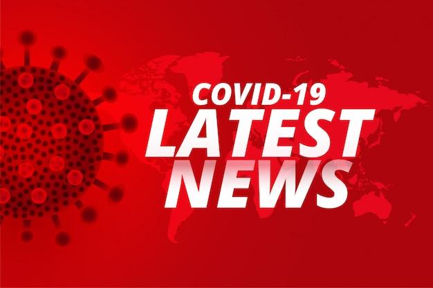 Covid19 coronavirus laatste nieuws update achtergrondontwerp Gratis Vector