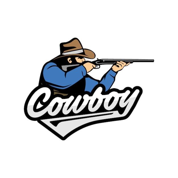 Cowboy-logo Premium Vector