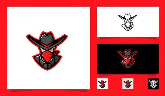 Cowboy mascotte sport logo Premium Vector
