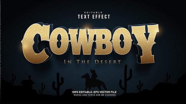 Cowboy teksteffect Gratis Vector