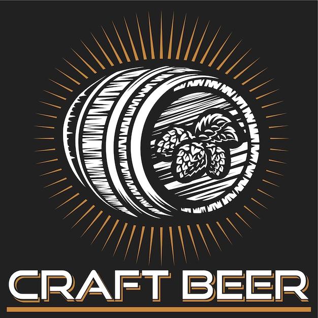 Craft beer logo Premium Vector