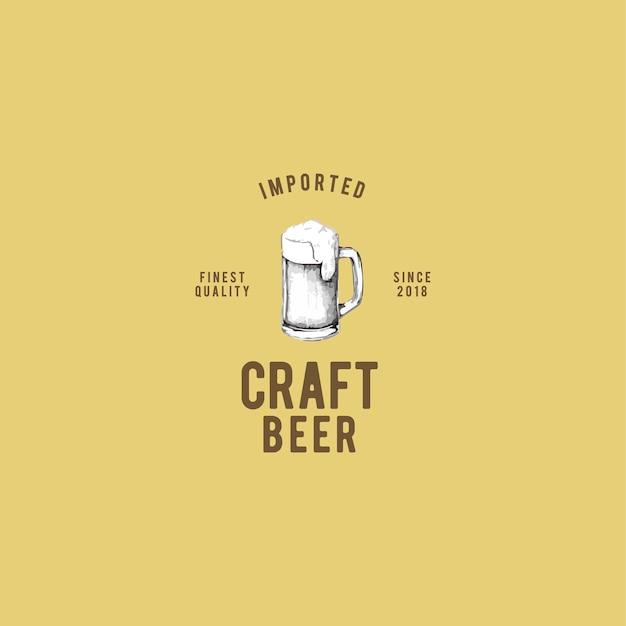 Craft bier logo ontwerp vector Gratis Vector