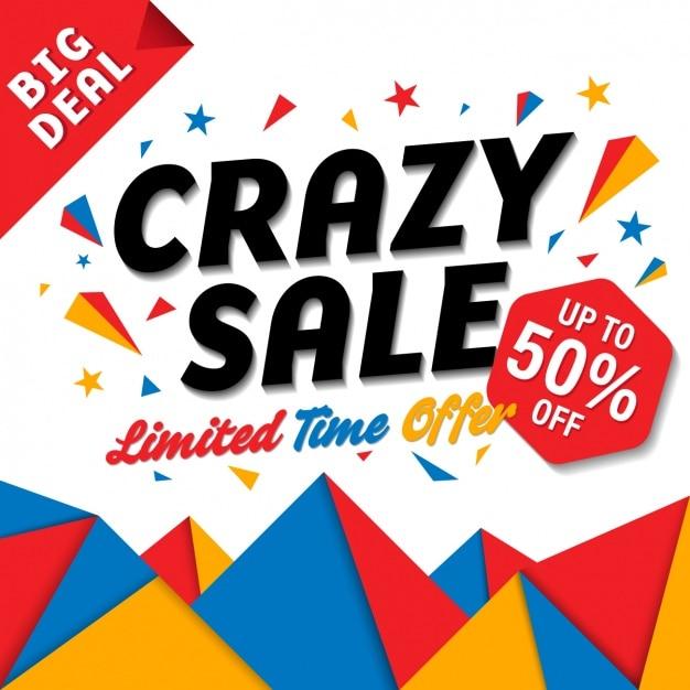 Crazy verkoop Gratis Vector