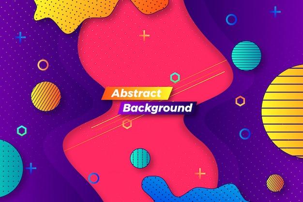 Creatief abstract stroom achtergrondmalplaatjeontwerp Premium Vector