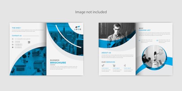 Creatief abstract tweevoudig brochureontwerp Premium Vector