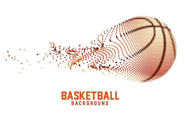 Creatief basketbal gemaakt met abstracte deeltjes Gratis Vector