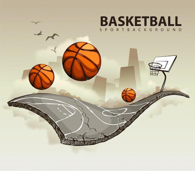 Creatief basketbalontwerp Gratis Vector