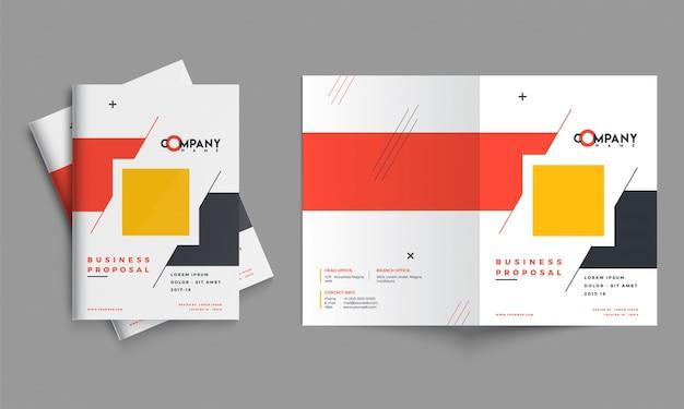 Creatief bedrijfsvoorstelontwerp, collectieve malplaatjelay-out Premium Vector