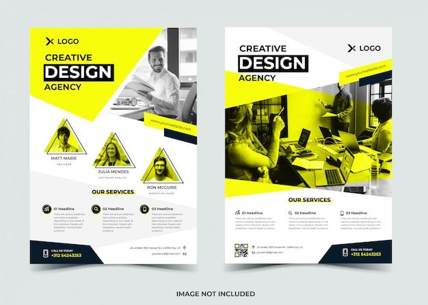 Creatief bureau flyer ontwerp Premium Vector