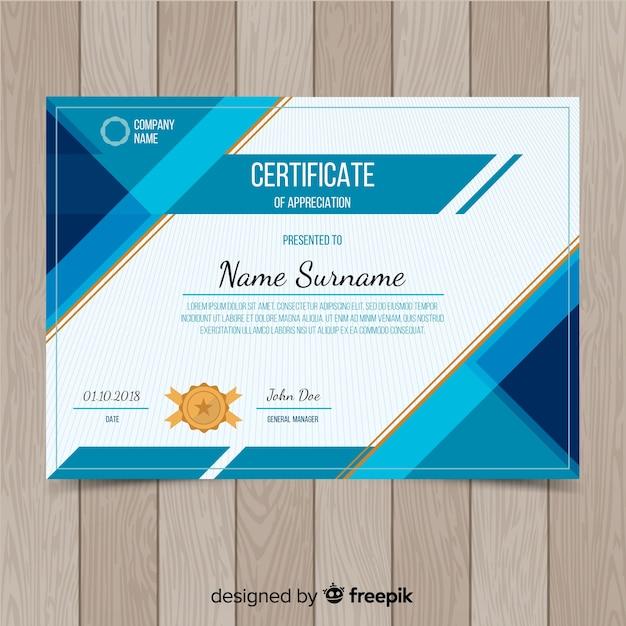 Creatief certificaatsjabloonontwerp Gratis Vector