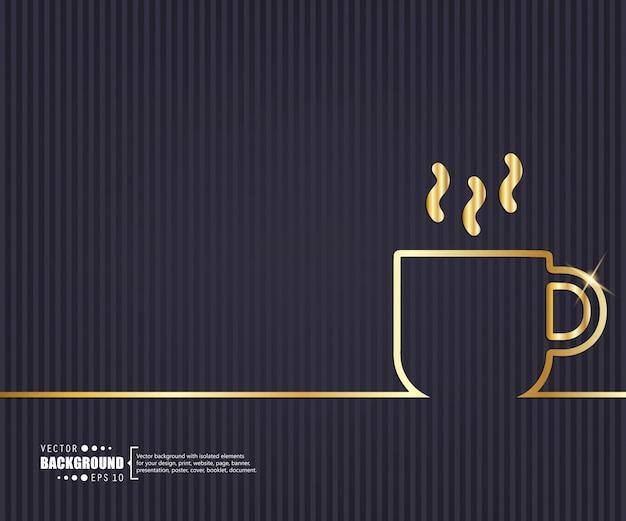 Creatief concept lijn achtergrond. Premium Vector