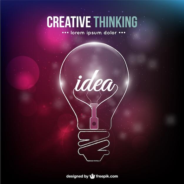 Creatief denken conceptuele vector Gratis Vector