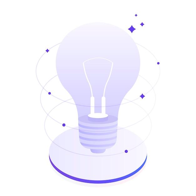 Creatief denken en brainstormen, vertel over uw idee. bedrijfsinnovaties. moderne vlakke afbeelding Premium Vector
